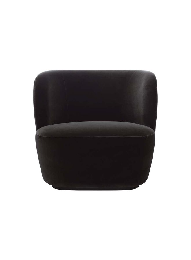 Stay Lounge Chair - Fully Upholstered, Small, Black base