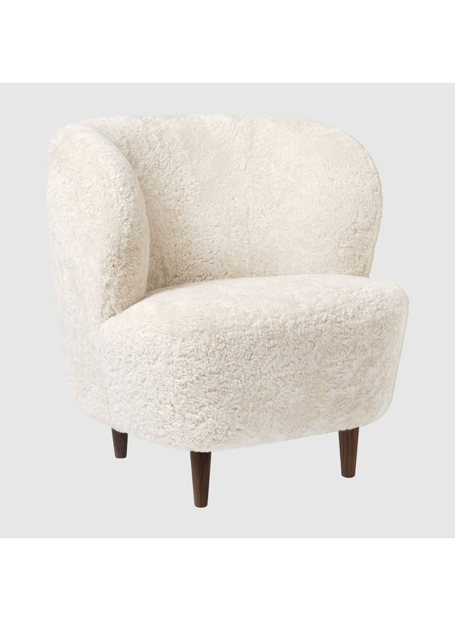 Stay Lounge Chair - Fully Upholstered, Small, Wooden legs (American Walnut Oiled Base)