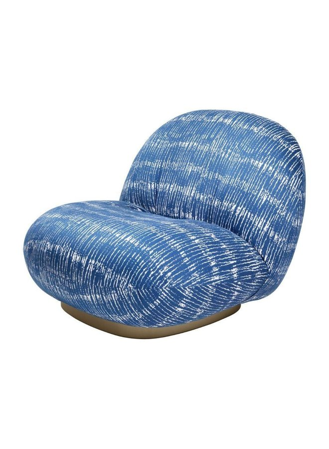 Pacha Lounge Chair - Fully Upholstered, Pearl Gold