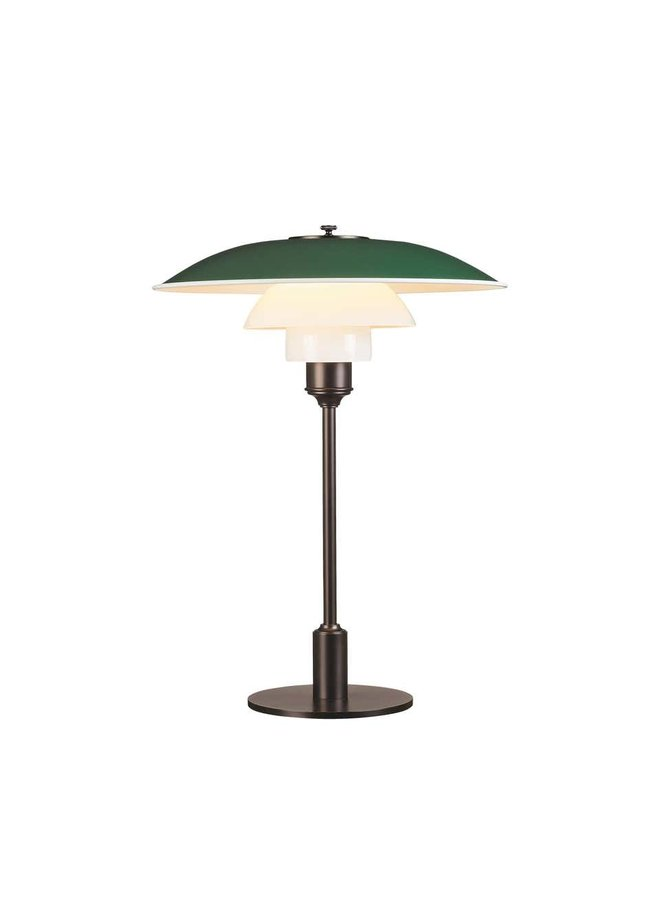 PH 3½-2½ Table Lamp with Aluminum Top Shade