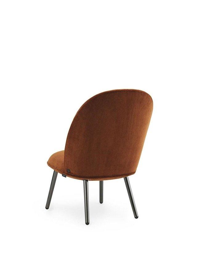 Ace Lounge Chair Black Metallic