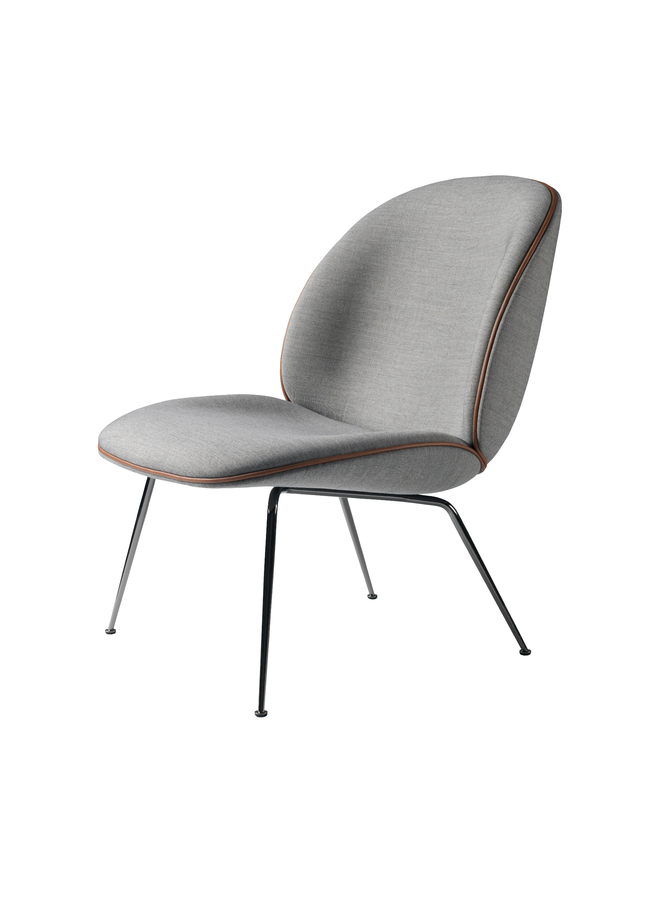 Beetle Lounge Chair - Fully Upholstered, Conic base, Chrome