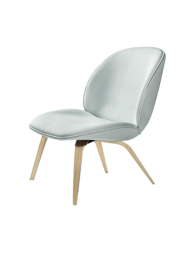 Beetle Lounge Chair - Fully Upholstered, Wood base, Oak Semi Matt Lacquered