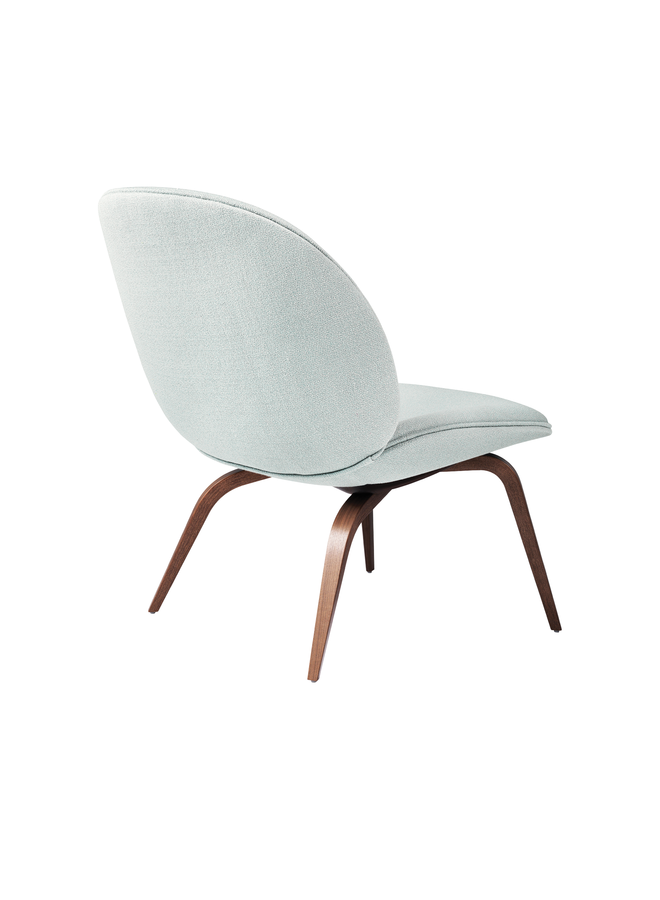 Beetle Lounge Chair - Fully Upholstered, Wood base, American Walnut Matt Lacquered