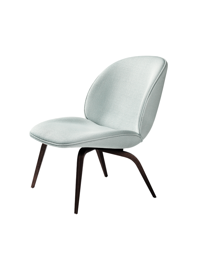 Beetle Lounge Chair - Fully Upholstered, Wood base, Smoked Oak Matt Lacquered