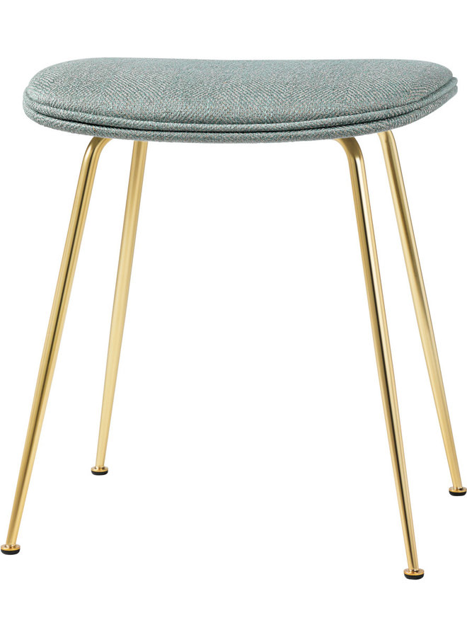 Beetle Stool - Fully Upholstered, 45, Conic base, Brass Semi Matt