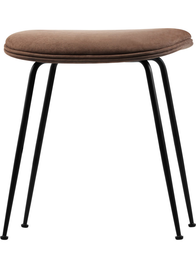 Beetle Stool - Fully Upholstered, 45, Conic base, Black Matte