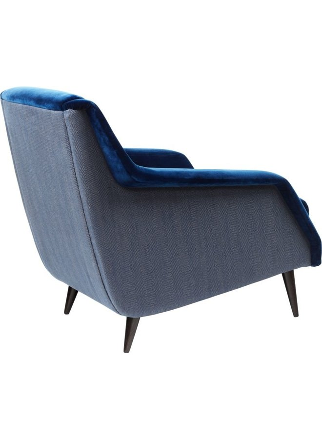 CDC.1 Lounge Chair - Fully Upholstered, Wood base, Black High Gloss