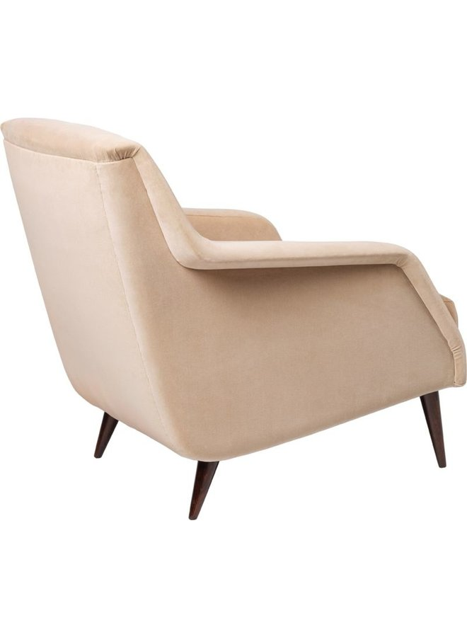 CDC.1 Lounge Chair - Fully Upholstered, Wood base, Brown Stained Birch