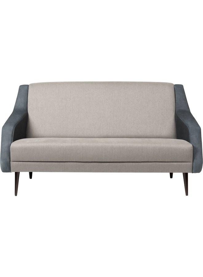 CDC.2 Sofa - Fully Upholstered, 143x82, Wood base, Black High Gloss