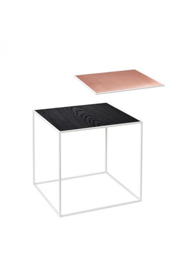 Twin 35 table, White frame