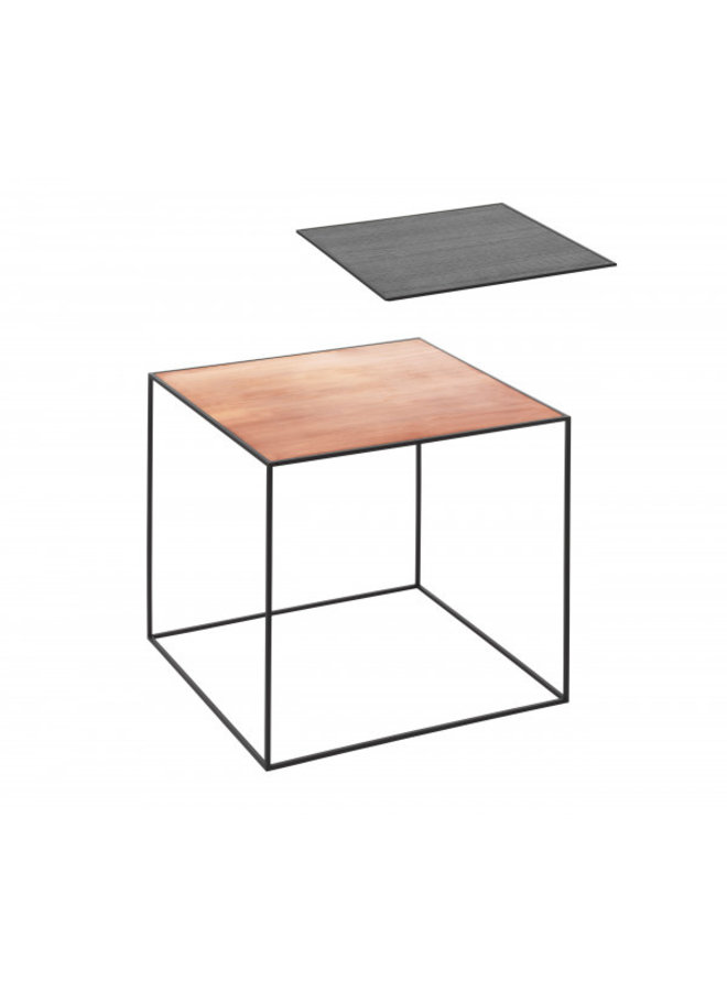 Twin 42 table, Black frame