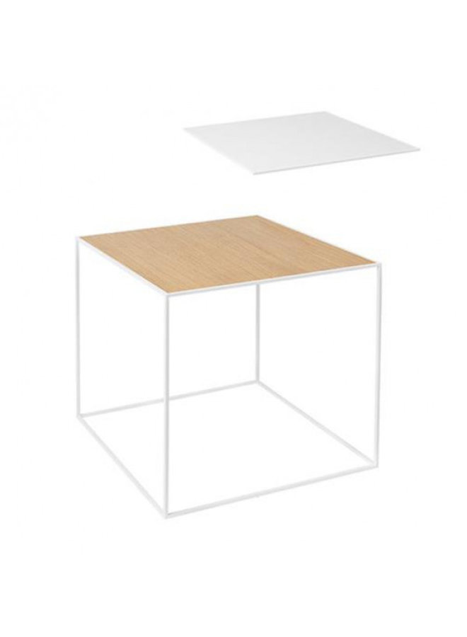 Twin 42 table, White frame