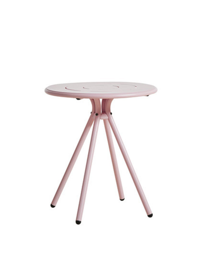 Ray Round Cafe Table - Rose Pink