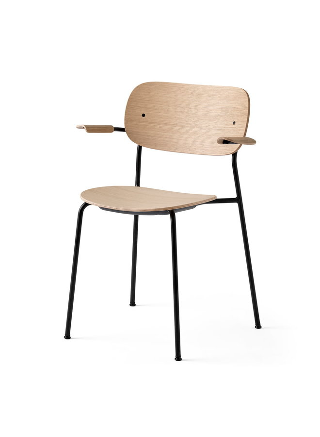 Co Chair, Armrest, Wood Seat