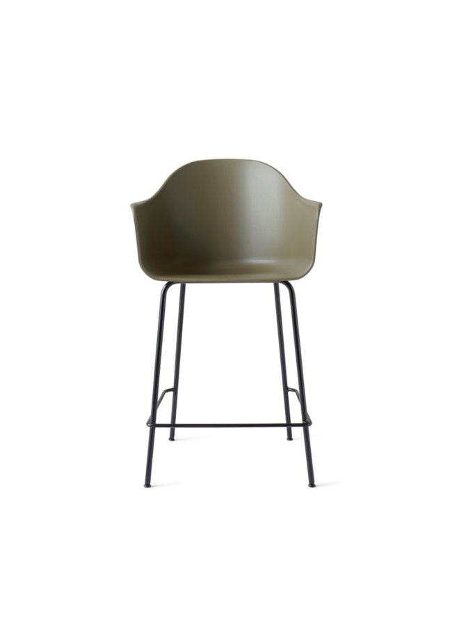 Harbour Chair, Counter, Steel-Black