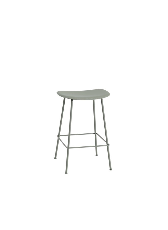FIBER COUNTER STOOL / TUBE BASE H: 65 CM / 25.6""