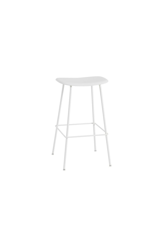 FIBER BAR STOOL / TUBE BASE H: 75 CM / 29.5""