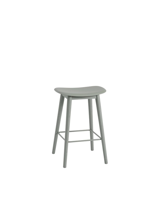 FIBER BAR STOOL / WOOD BASE H: 75 CM / 29.5""