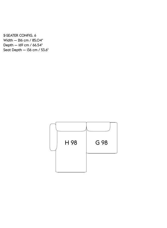 IN SITU MODULAR SOFA / 2-SEATER - CONFIGURATION 6