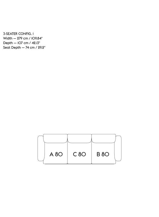 IN SITU MODULAR SOFA / 3-SEATER - CONFIGURATION 1