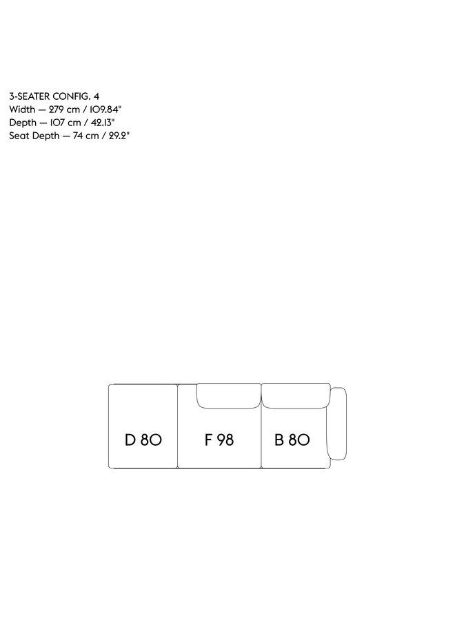 IN SITU MODULAR SOFA / 3-SEATER - CONFIGURATION 4