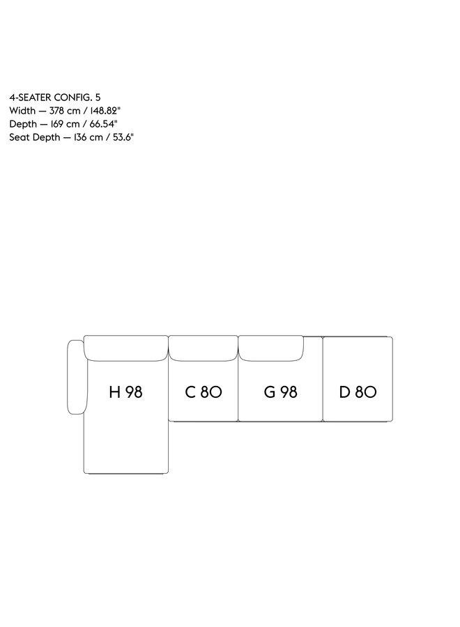 IN SITU MODULAR SOFA / 4-SEATER