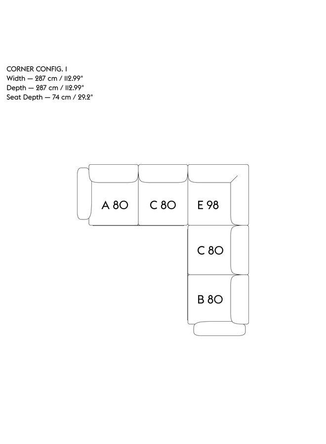 IN SITU MODULAR SOFA / CORNER - CONFIGURATION 1
