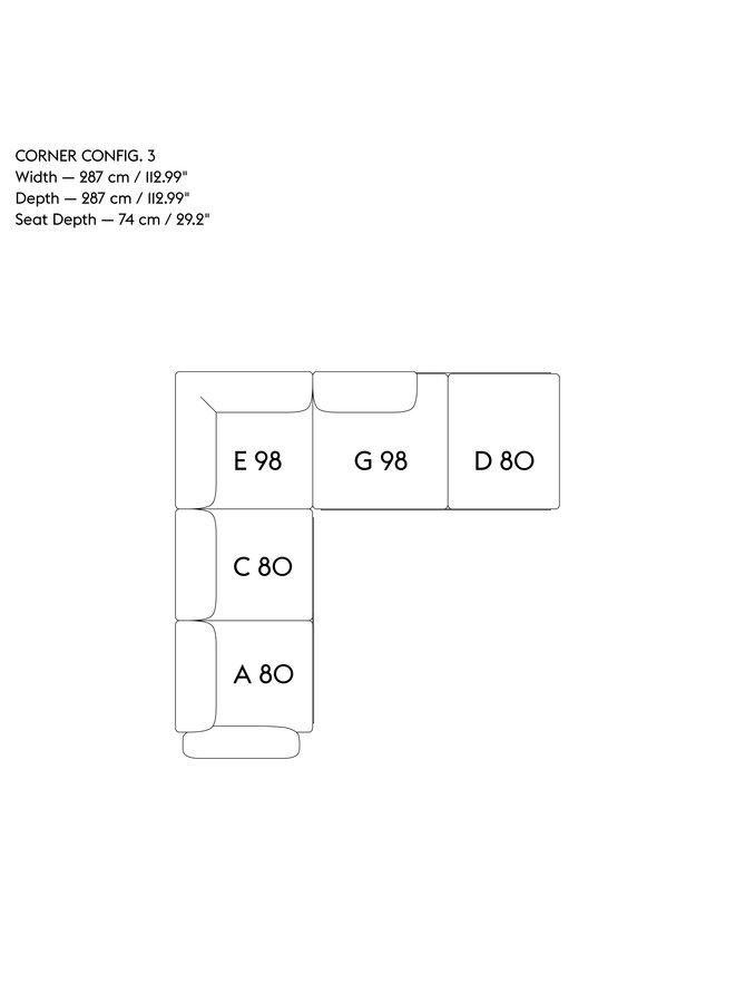 IN SITU MODULAR SOFA / CORNER - CONFIGURATION 3