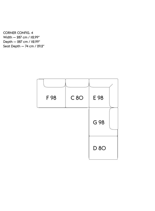 IN SITU MODULAR SOFA / CORNER - CONFIGURATION 4