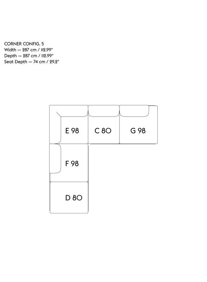 IN SITU MODULAR SOFA / CORNER - CONFIGURATION 5