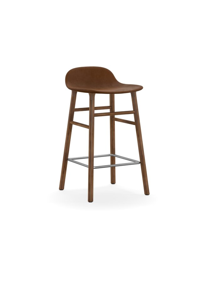 Form Barstool 65 cm Full Upholstery Walnut