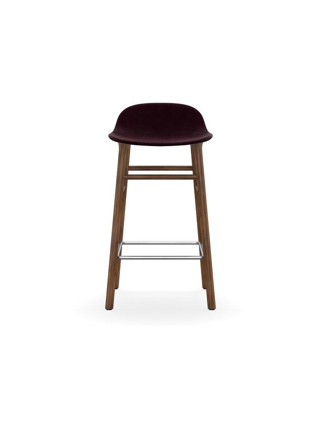 Form Barstool 65 cm Full Upholstery Walnut