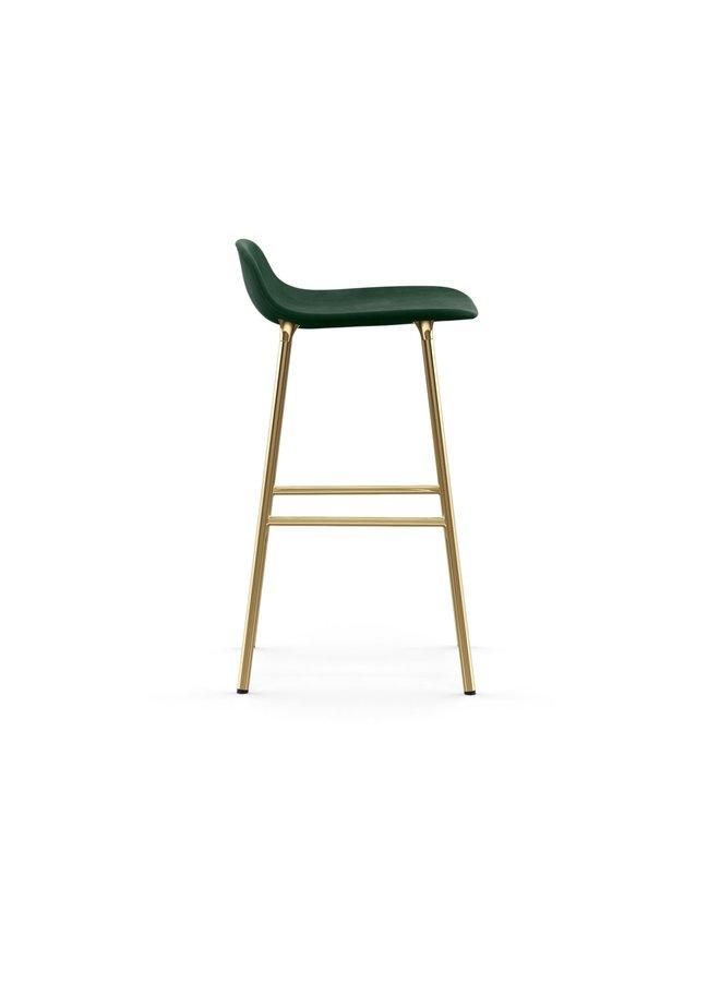 Form Barstool 65 cm Full Upholstery Brass