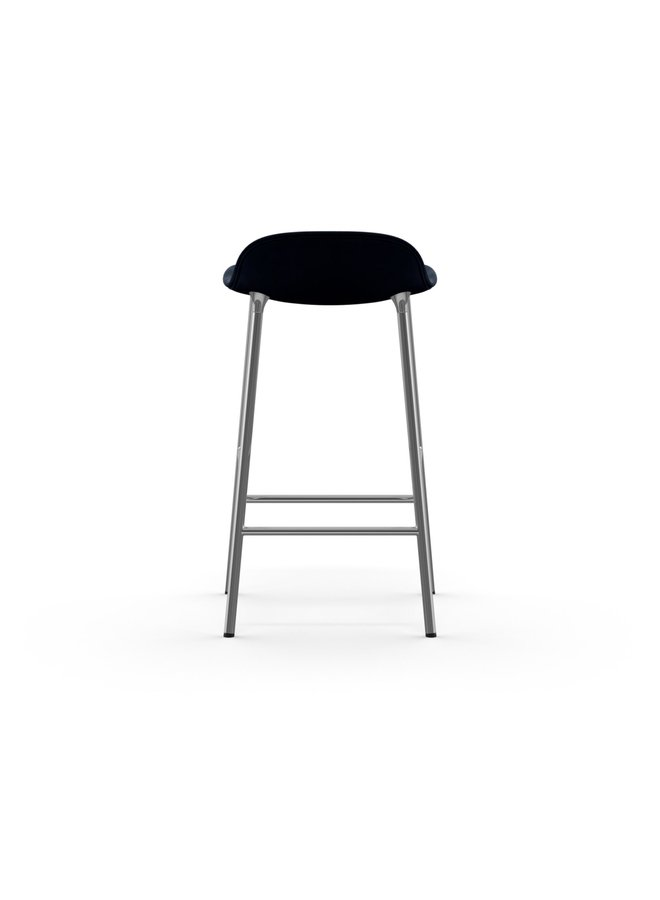 Form Barstool 65 cm Full Upholstery Chrome