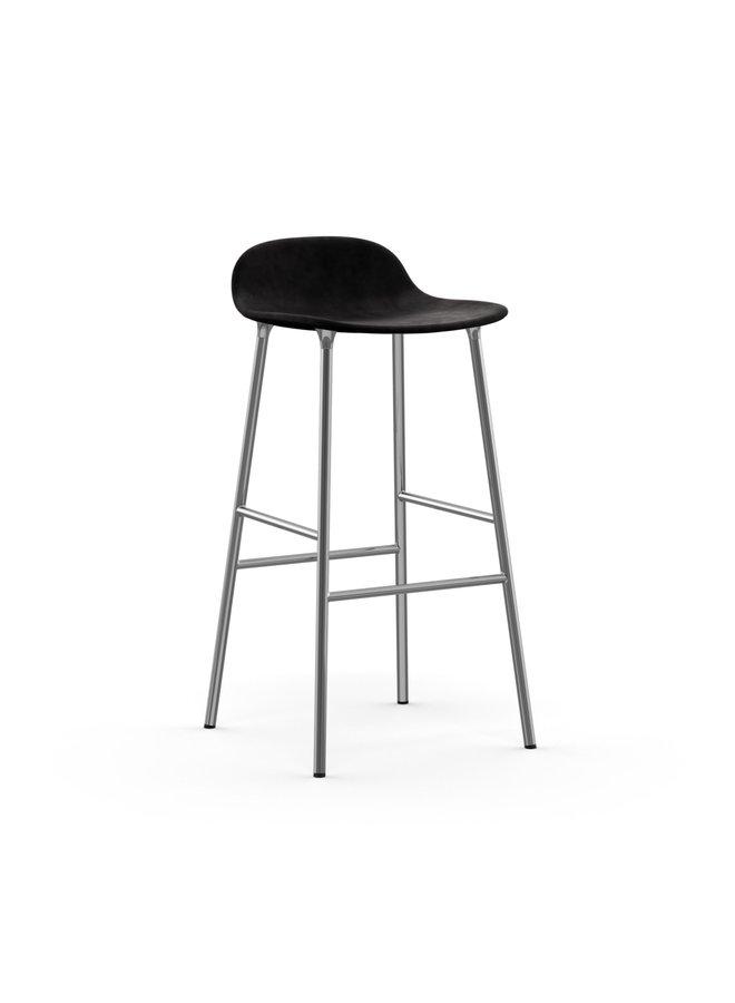 Form Barstool 75 cm Full Upholstery Chrome