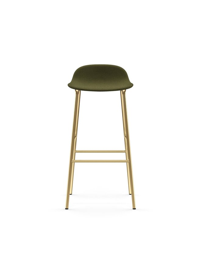 Form Barstool 75 cm Full Upholstery Brass