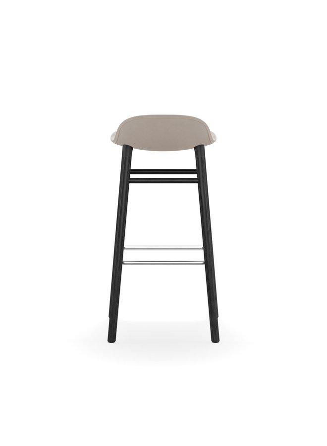 Form Barstool 75 cm Full Upholstery Black Oak