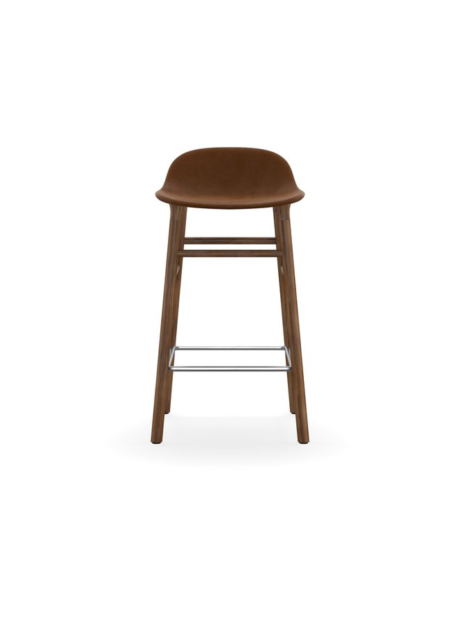 Form Barstool 75 cm Full Upholstery Walnut