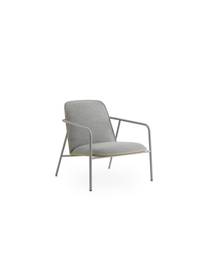 Pad Lounge Chair Low Grey Steel