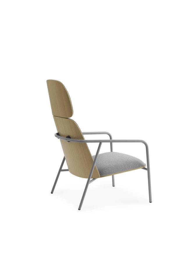 Pad Lounge Chair High Grey Steel