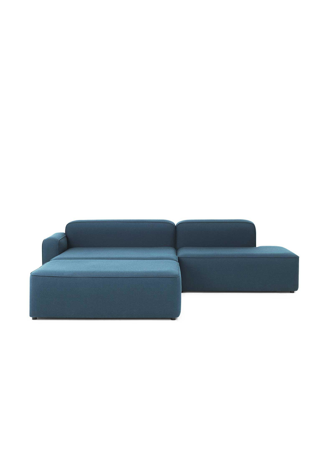 Rope Sofa Chaise Longue left with Pouf