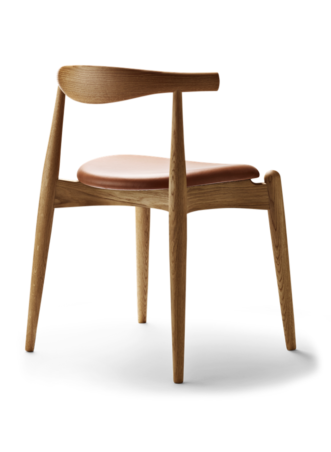 CH20 ELBOW CHAIR Leather Oak
