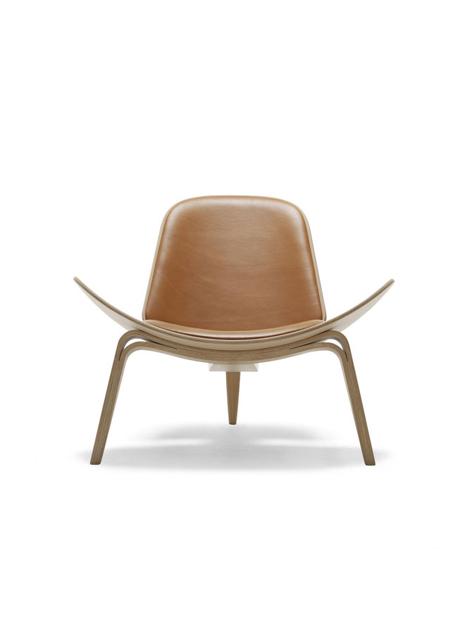 CH07 / SHELL CHAIR Leather (Oak)