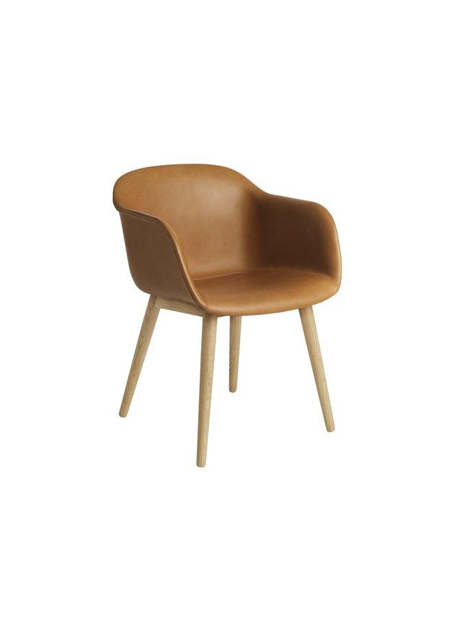 Fiber Armchair / Wood Base Upholstered