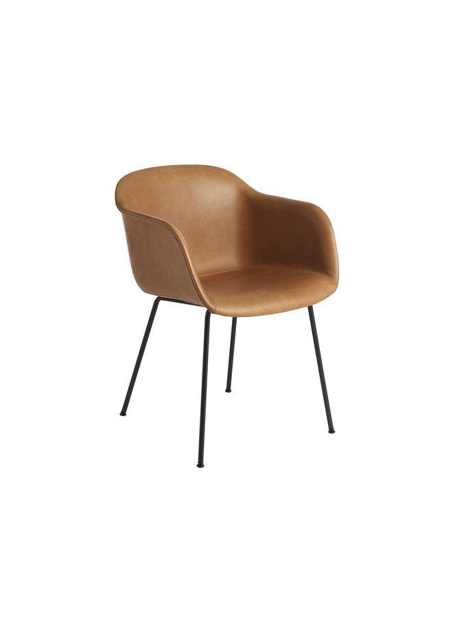 Fiber Armchair / Tube Base Upholstered