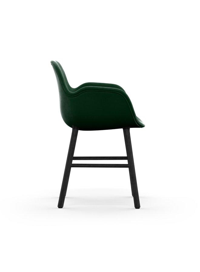 Form Armchair Full Upholstery Black Oak