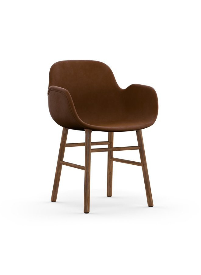 Form Armchair Full Upholstery Walnut