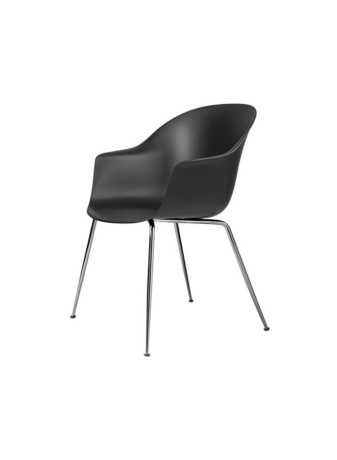 Bat Dining Chair, Conic base, Chrome Base, Felt Glides