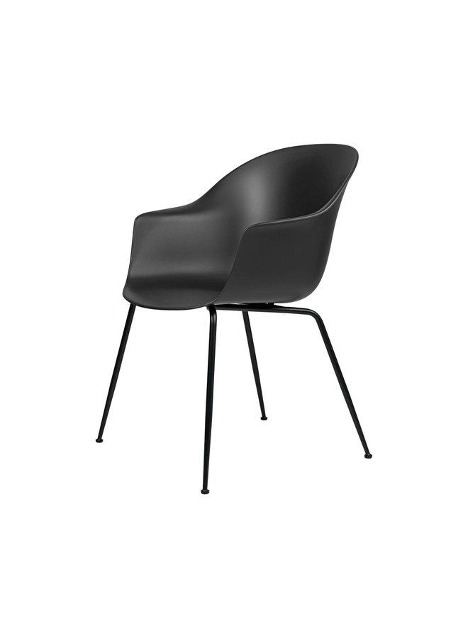 Bat Dining Chair, Conic base, Black Matt Base, Plastic Glides
